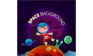儿童的太空宇宙员情景设