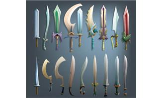 游戏各种攻击道具宝剑造