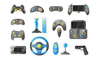 游戏机各种游戏手柄图标