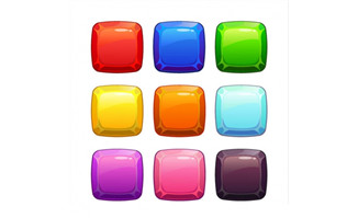 手绘质感按钮UI游戏图标矢