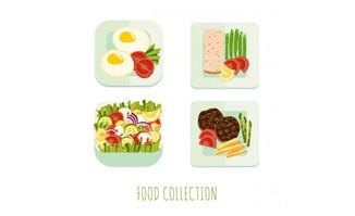 扁平化营养食物搭配设计