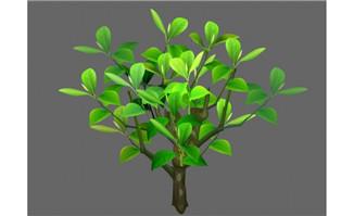 绿叶树木植物矢量素材f