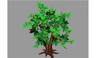 绿色树叶飞动效果flash动画