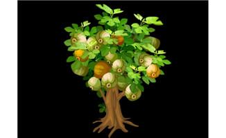 无花果植物矢量素材flas