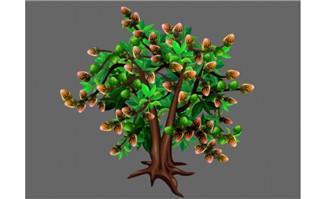 坚果食物坚果树造型设计