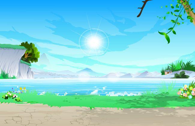 海边的场景设计flash动画素材下载  海边的风景  flash动画场景设计
