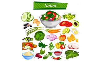 蔬菜水果食品大全矢量素