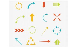 扁平各种造型的箭头符号