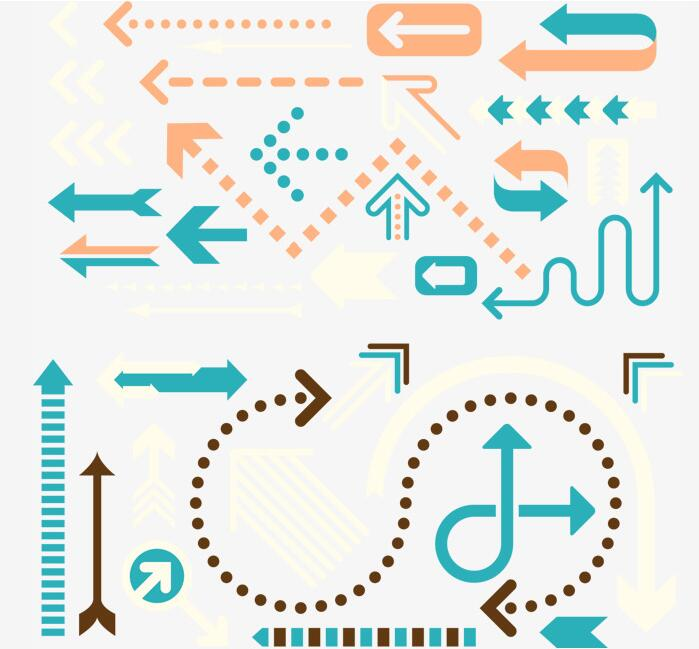 扁平化箭头循环箭头图标设计矢量素材