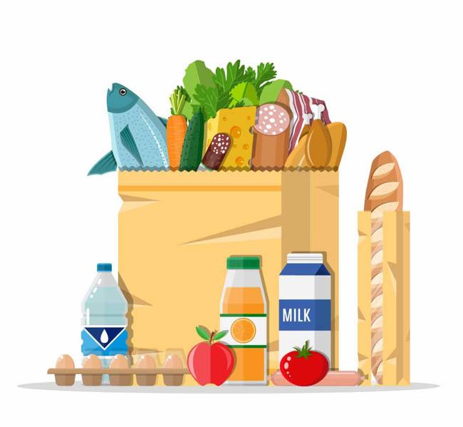 超市各种生鲜蔬菜类食品扁平设计素材_flash二维动画.