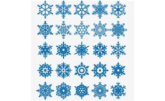 雪花图案大全印花设计雪