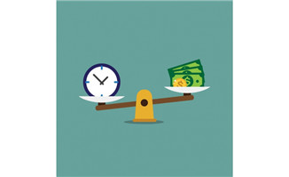 时间与金钱的关系创意扁