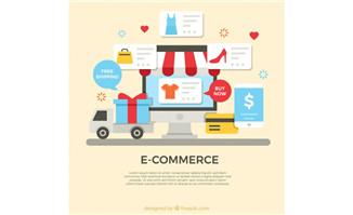 扁平互联网购物电子商务