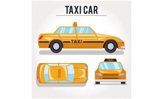 黄色出租设计出租车造型