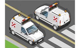 警车卡通动漫造型设计汽