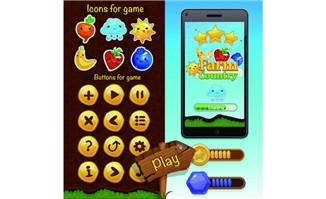 水果消消乐游戏界面设计