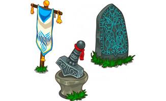 游戏道具碑旗子景观设计