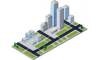 办公园区办公大楼城市楼