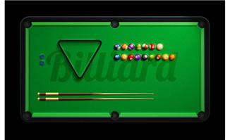 台球游戏界面台球桌面设