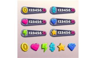 游戏奖励制度各种手绘数