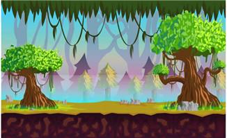 原始森林游戏场景设计大