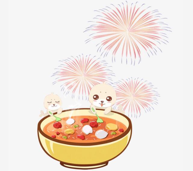 卡通动漫形象元宵节汤圆与烟花组合设计素材_漫品购_mg动画短片素材图片