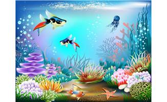 唯美的海洋世界海洋植物