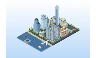 纽约海岸城市模型矢量城