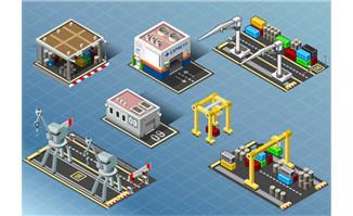 现代工厂人工智能机器人
