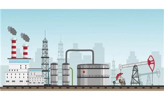 石油产油炼油场景设计扁