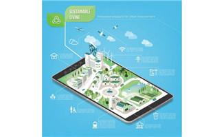 手机上旅游城市创意设计