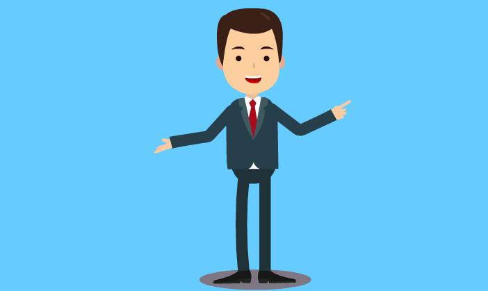 mg动画短片扁平化人物站着说话的动作设计素材
