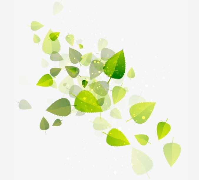 春天绿色树叶梦幻的设计装饰图设计素材图片
