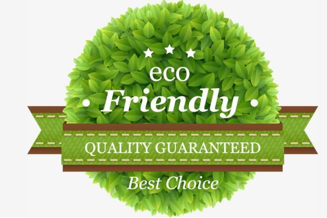 树叶绿叶组合圆形背景春天主题海报背景设计