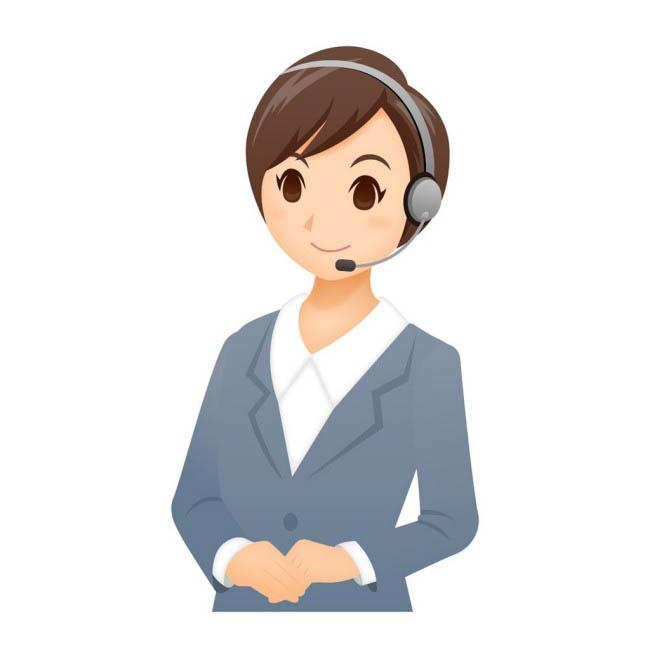 职业女客服形象设计素材  职业客服美女图片   客服人员动漫形象设计