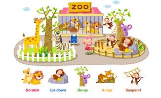 手绘可爱动物世界课件插