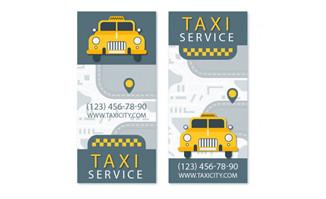 扁平化出租车造型设计打