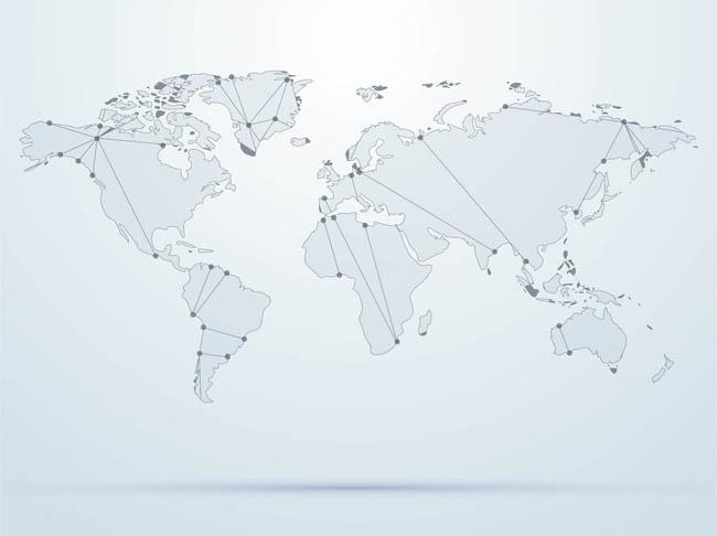 灰色调,世界地图设计,矢量素材  背景与世界地图  世界地图创意设计