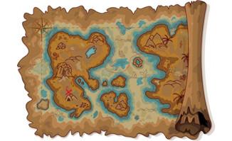 有一定历史的复古旧地图