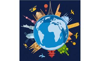 地球上环球旅行的各种建