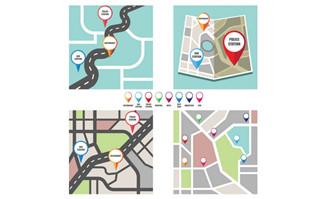 定位图标位置图标城市街