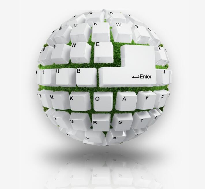 详细描述   键盘创意组合,成地球造型,科技感设计素材  键盘创意设计图片