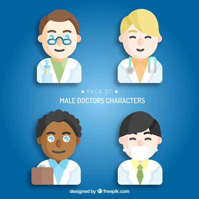 快乐医生的卡通动漫头像设计素材_漫品购_mg动画短片