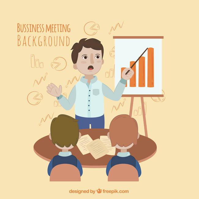 正在讲课中的老师表情动作设计素材图片