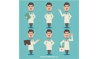 卡通动漫扁平化男性医生