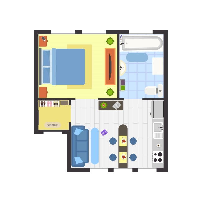 室内装修家具室内结构图效果图设计矢量素材