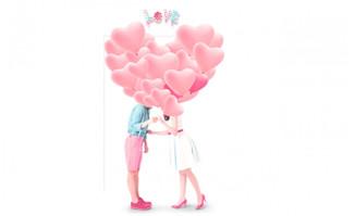 爱心拿着海报字体和LOVE气球v爱心素材情侣_装修设计形容词图片