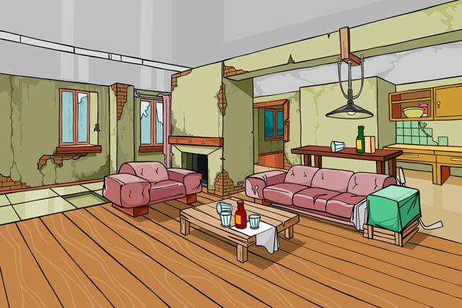 室内场景设计  现代客厅场景设计素材下载