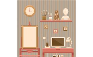艺术家创作时候家里画板