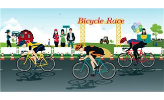 体育赛事单车自行车比赛